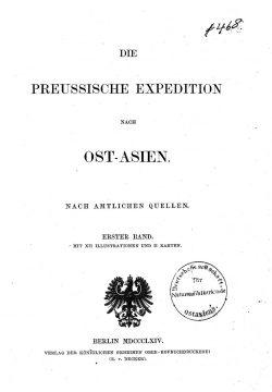 Die preussische Expedition nach Ost-Asien