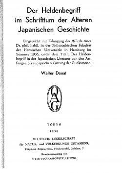 Band XXXI (1938-1939) Teil A