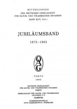 Band XLIV (1963-1964) Teil 3