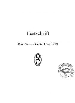 Festschrift - Das Neue OAG-Haus 1979