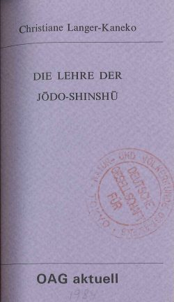 Die Lehre der Jodo-shinshu