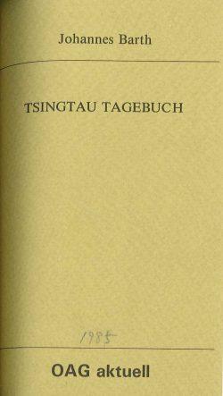 Tsingtau Tagebuch