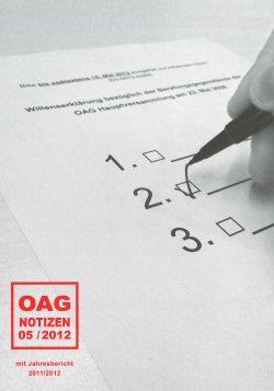 OAG Notizen Mai 2012
