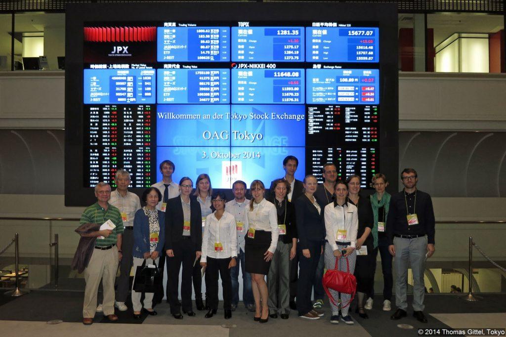 Tokyo Stock Exchange - Besichtigung der Tokyoter Börse