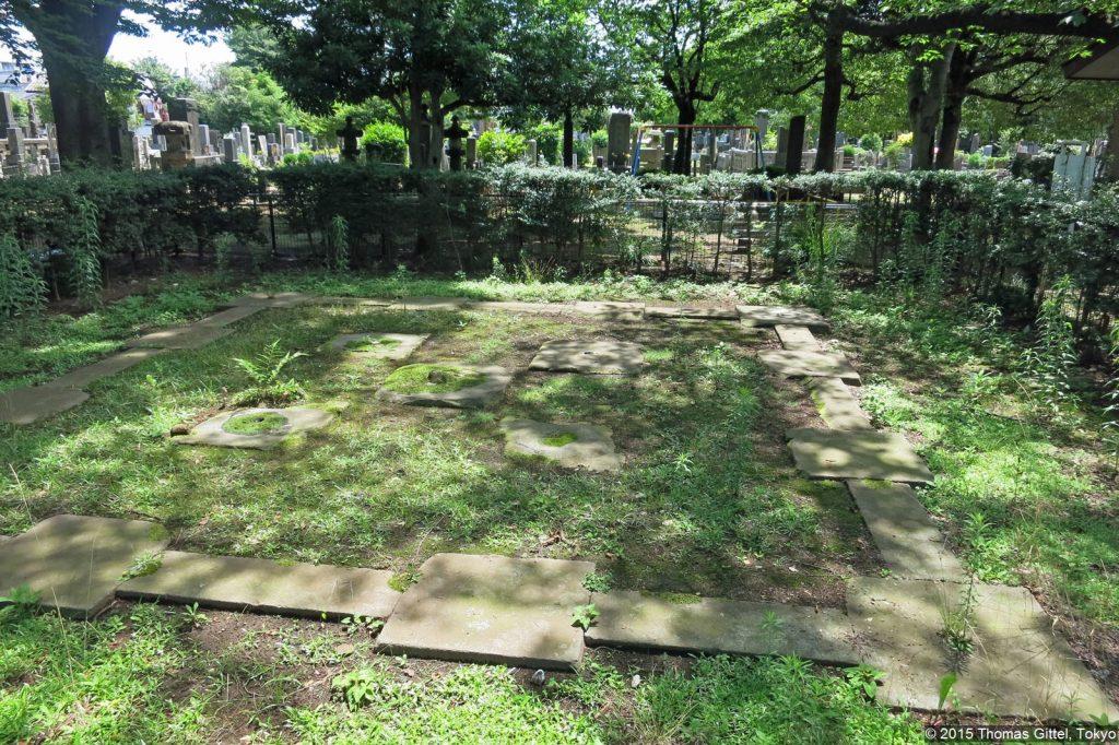 Yanaka Goju-no to (Grundmauern der fünfstöckigen Pagode) - Spaziergang in Yanesen