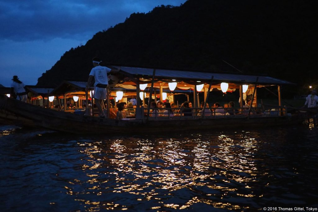 Ukai, Gifu - Kormoran-Fischerei (Ukai) im Nagaragawa/Gifu