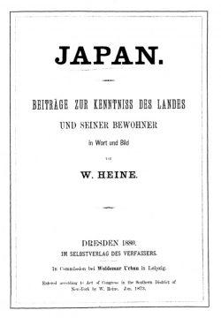 Japan. Beiträge zur Kenntnis des Landes und seiner Bewohner