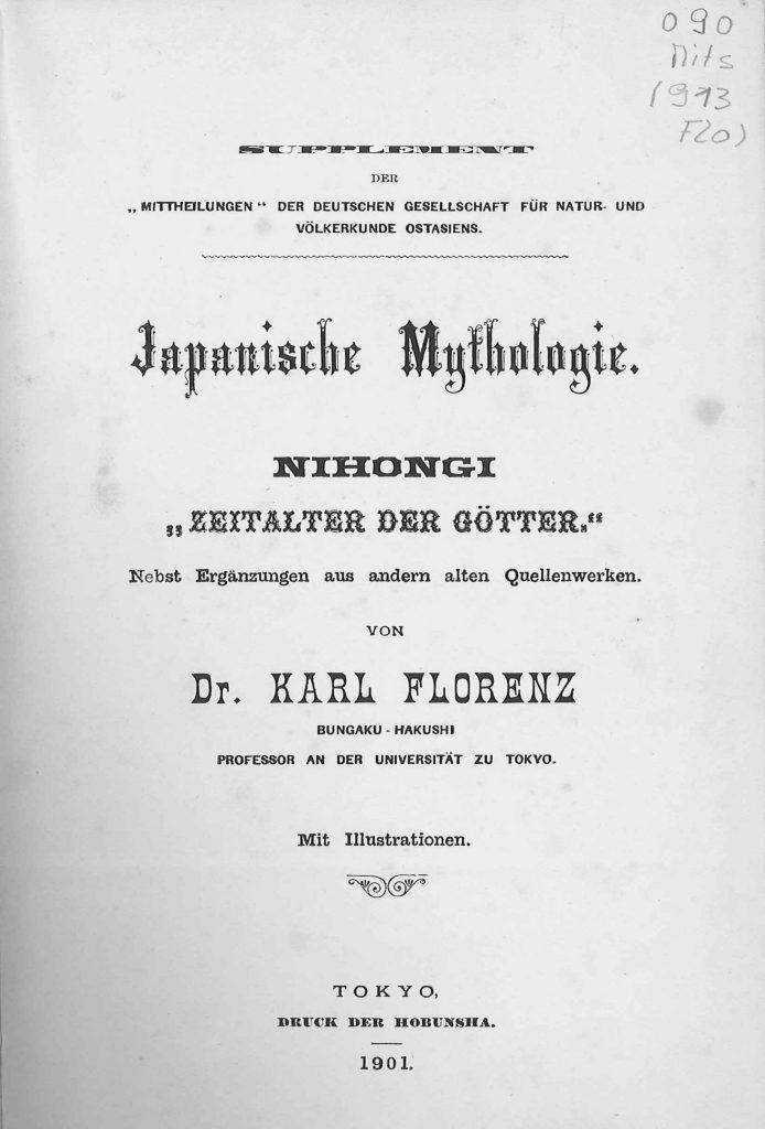 OAG Mitteilungen Sup 1901 Titel