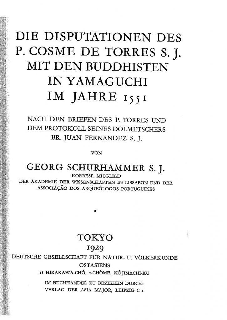 OAG Mitteilungen 1929-1930 Titel