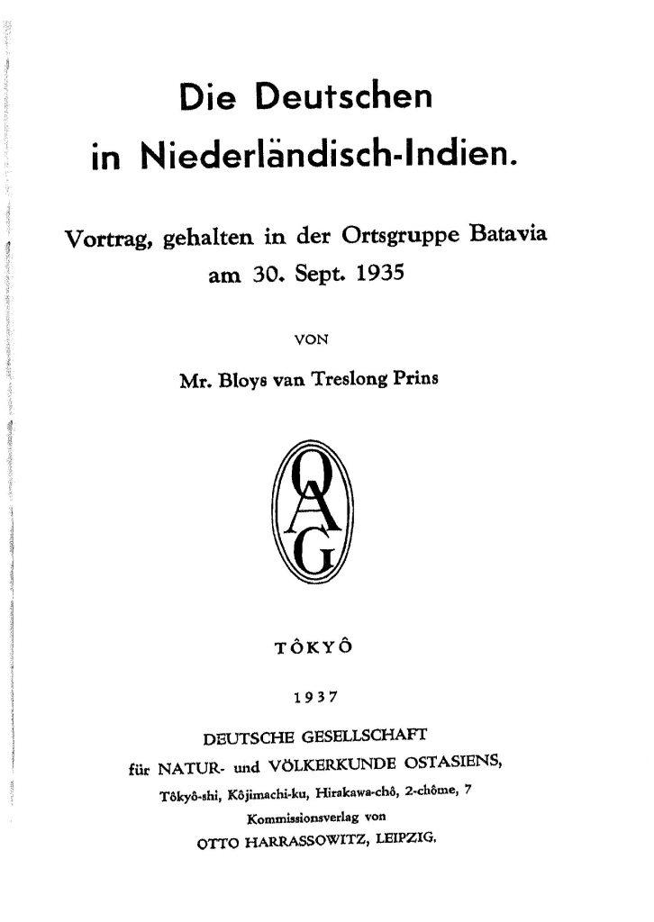 OAG Mitteilungen Teil D 1935-1937 Titel