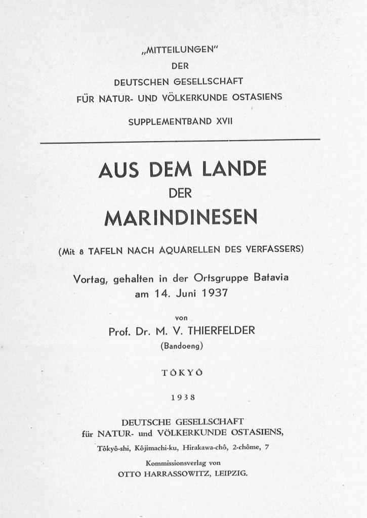 OAG Mitteilungen 1938 Titel