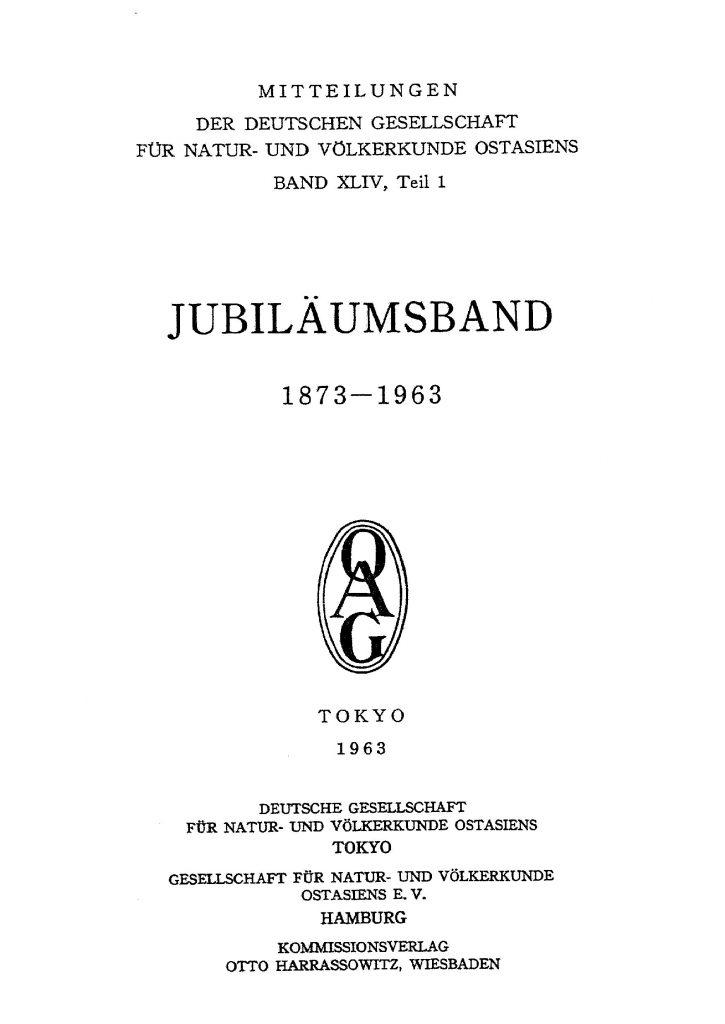 OAG Mitteilungen 1963-1964 Titel