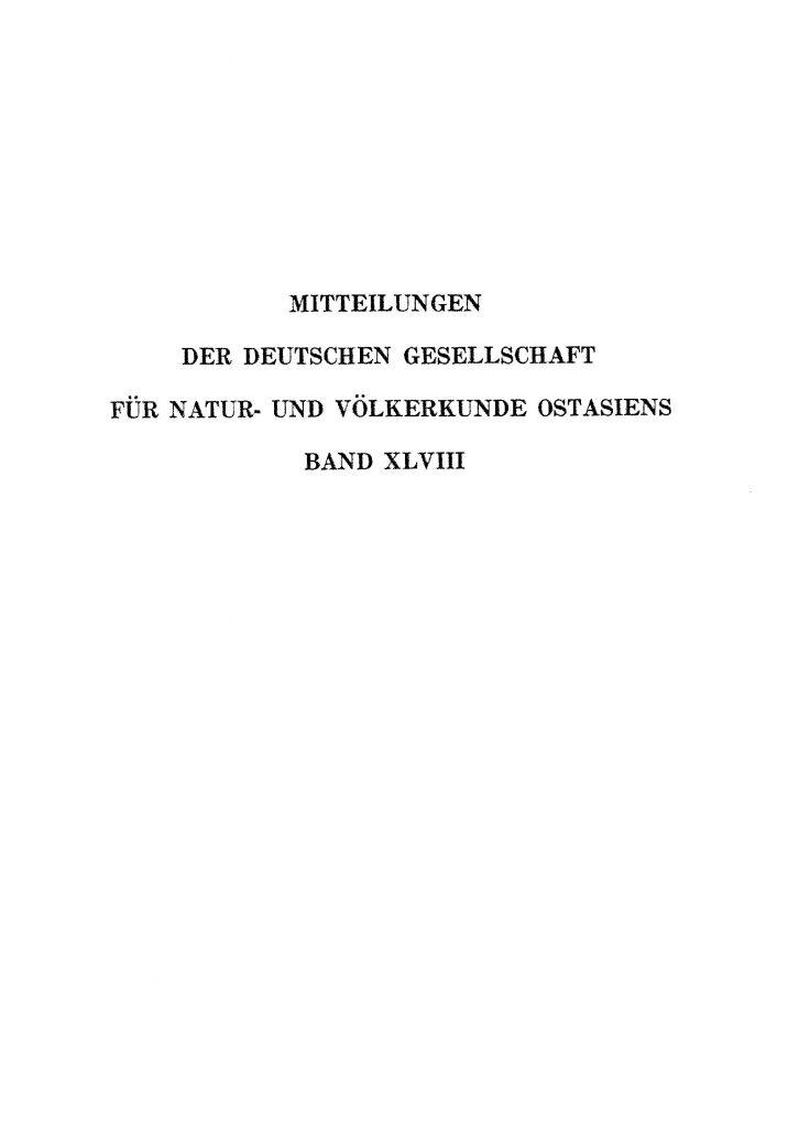 OAG Mitteilungen 1968 Titel