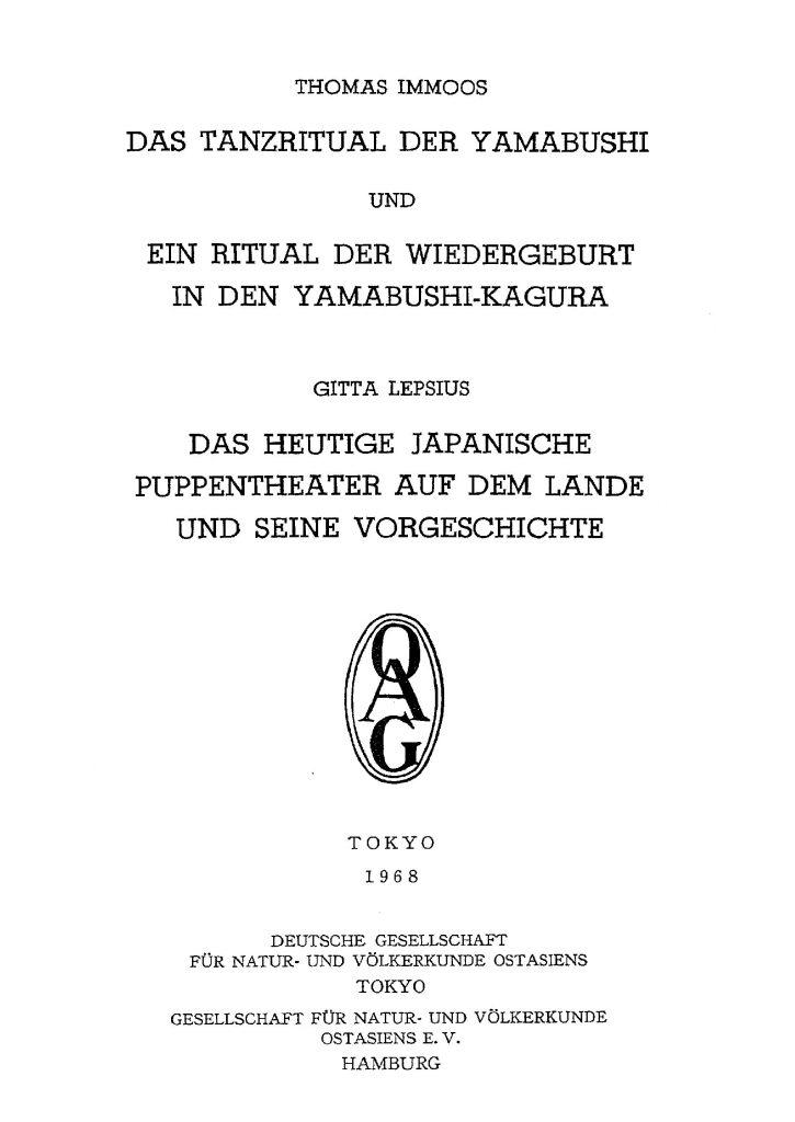 OAG Mitteilungen L 1968 Titel