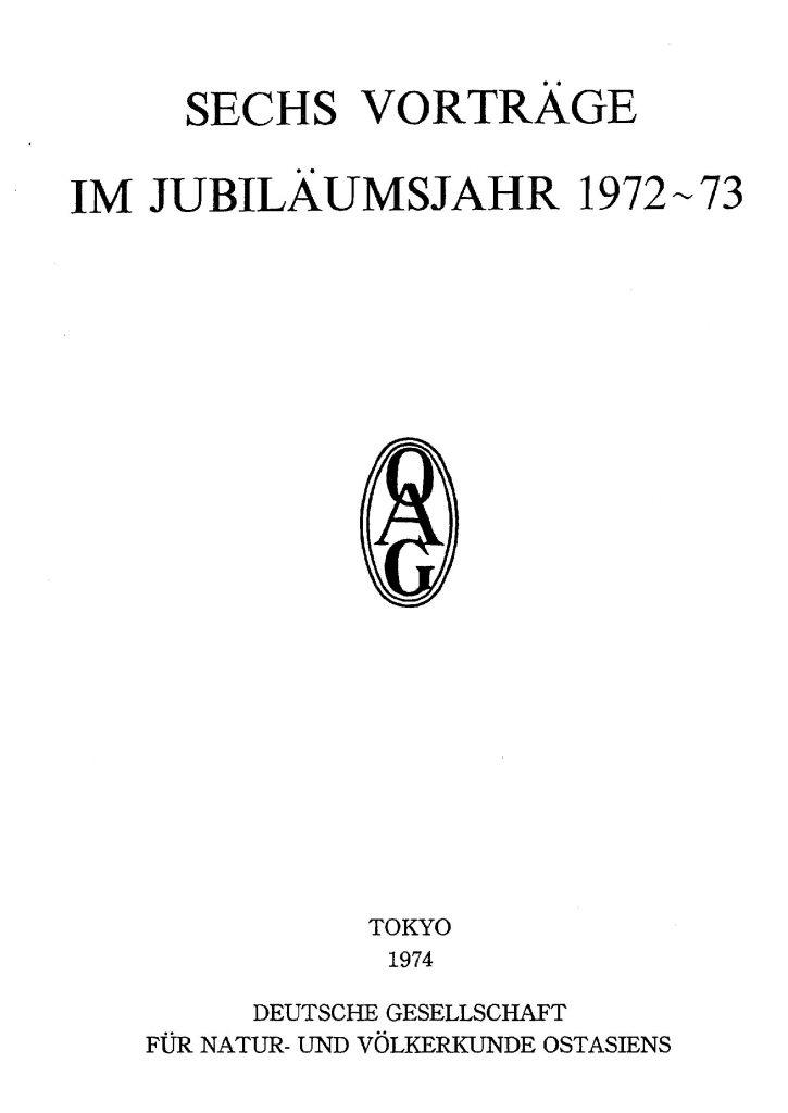 OAG Mitteilungen 1974 Titel