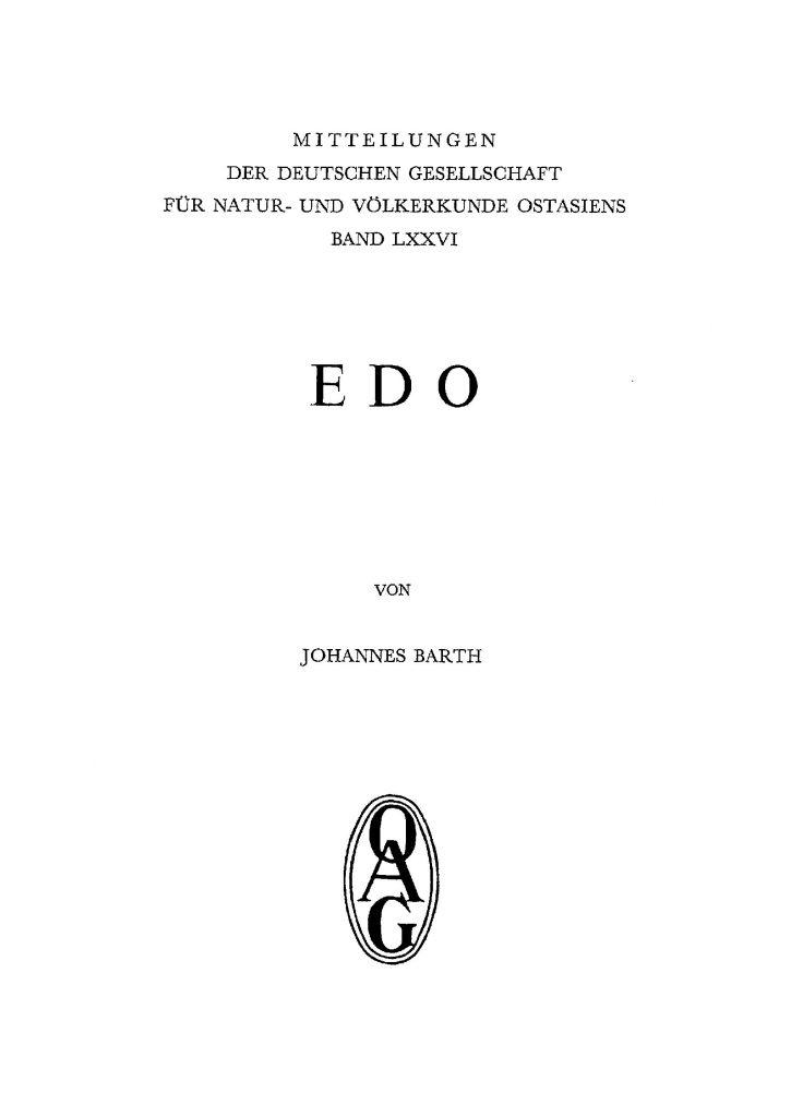 OAG Mitteilungen 1976 Titel
