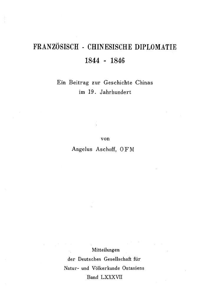 OAG Mitteilungen 1981 Titel