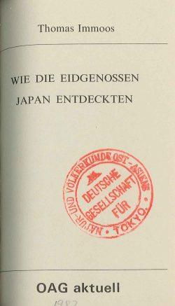 Wie die Eidgenossen Japan entdeckten