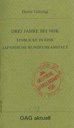 Drei Jahre bei NHK - Einblicke in eine japanische Rundfunkanstalt
