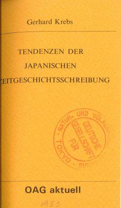 Tendenzen der japanischen Zeitgeschichteschreibung