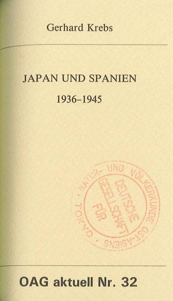 Japan und Spanien 1936 - 1945