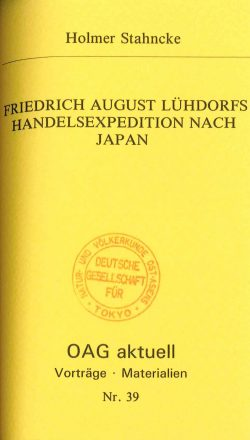 Friedrich August Lühdorfs Handelsexpedition nach Japan