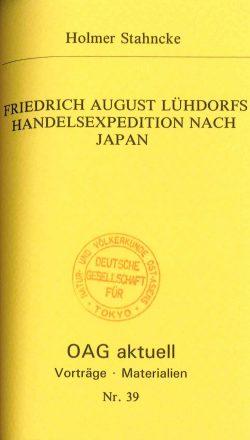Friedrich August Lühdorfs Handelsexpedition nach Japan