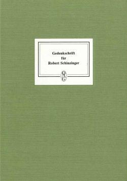 Gedenkschrift für Robert Schinzinger