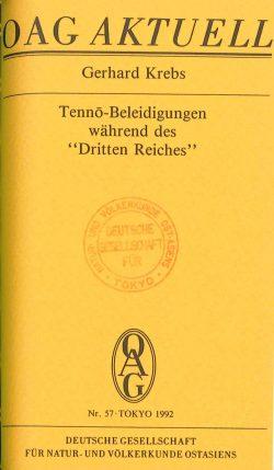 """Tenno-Beleidigungen während des """"Dritten Reiches"""