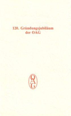 120. Gründungsjubiläum der OAG am 22. März 1993