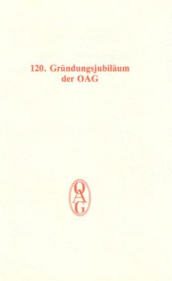 120. Gruendungsjubilaeum der OAG am 22. Maerz 1993