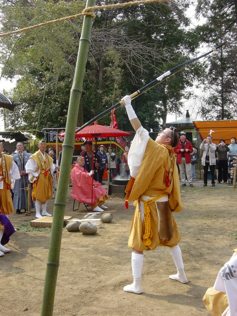 Bogenschütze - Exkursion zum Feuerritual Saitō Goma