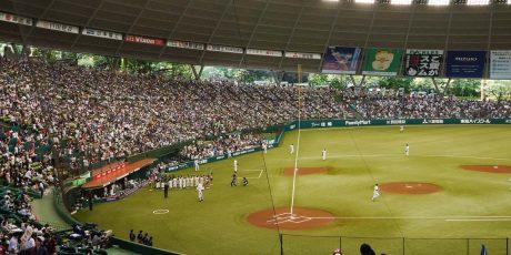 Besuch eines Baseballspiels