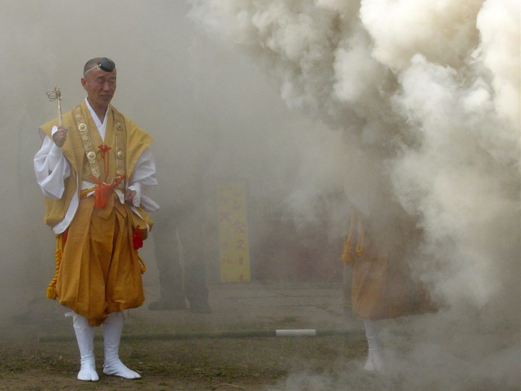 Das Freiluft-Feuerritual Saitō Goma