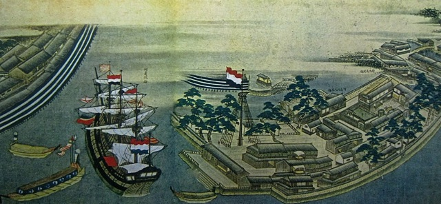 Dejima_w_Dutch_ship