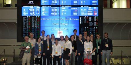 Besichtigung der Tokyoter Börse