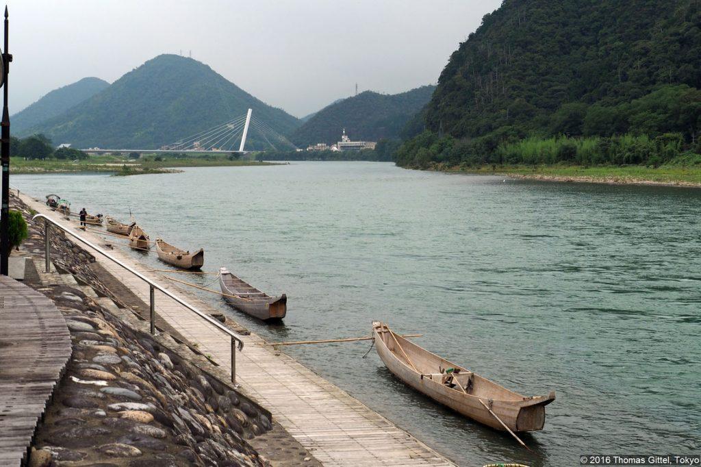Nagaragawa, Gifu - Kormoran-Fischerei (Ukai) im Nagaragawa/Gifu