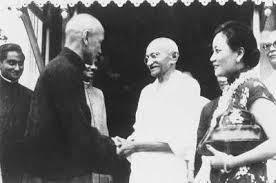 Mahatma Gandhi, Chiang Kai-shek und Madame Chiang in Kolkata