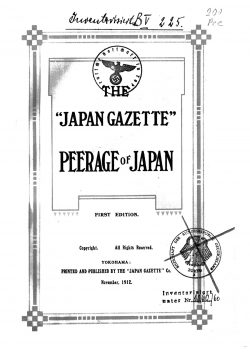 "The ""Japan Gazette"": Peerage of Japan"