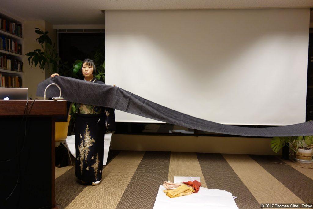 Vortrag/Workshop von Kazue Kurebayashi-Morsbach: Wie wählt frau den passenden Obi zu einem Kimono?