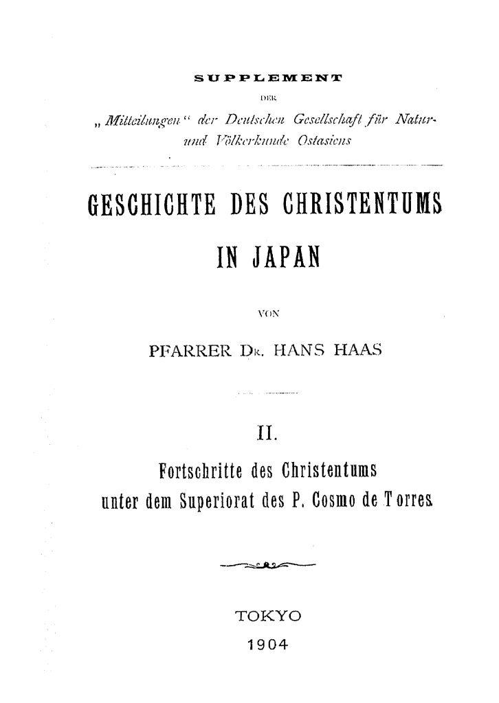 OAG Mitteilungen Sup VII 1904 Titel