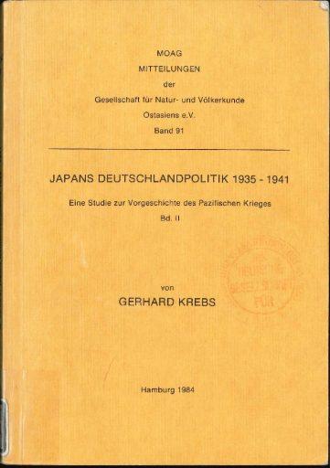 Japans Deutschlandpolitik 1935-1941 (Band 2)