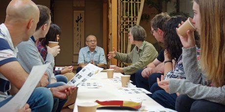 Besichtigung einer Werkstatt für Tatami-Herstellung