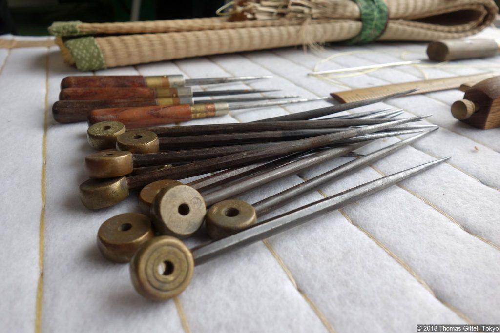 Okada Tatami-Werkstatt, Kawagoe - Besichtigung einer Werkstatt für Tatami-Herstellung
