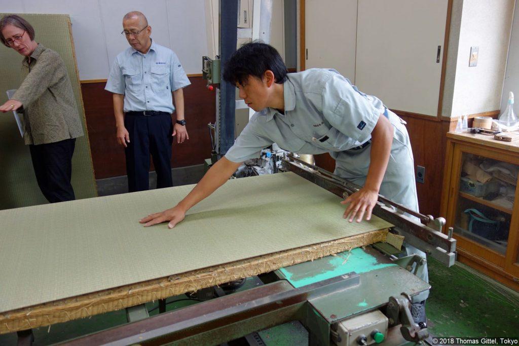 Okada Tatami-Werkstatt, Kawagoe (kamachi nuiki) - Besichtigung einer Werkstatt für Tatami-Herstellung