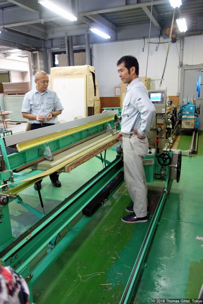 Okada Tatami-Werkstatt, Kawagoe (hirazashiki) - Besichtigung einer Werkstatt für Tatami-Herstellung