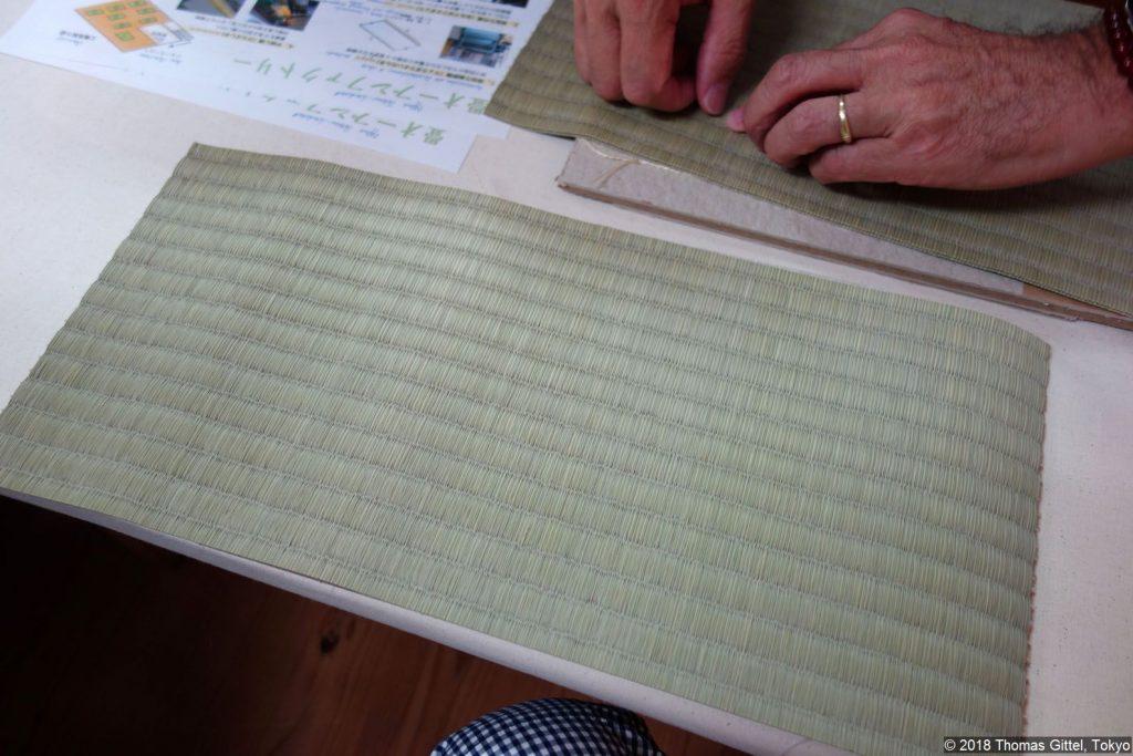 Okada Tatami-Werkstatt, Kawagoe - Besichtigung einer Werkstatt für Tatami-Herstellung (taiken)