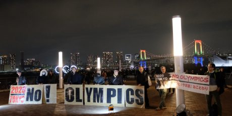 """Olympische Reihe, Teil 3. Dr. Sonja Ganseforth (DIJ): """"Olympia? Nein danke! Japanischer Protest gegen Tokyo 2020"""" Fällt aus, wird nachgeholt!"""