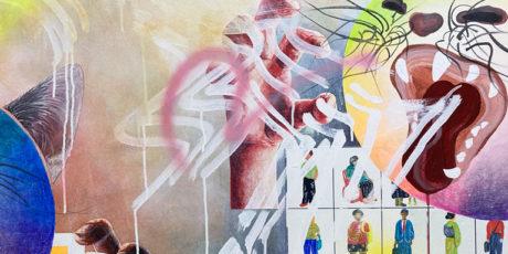 Stefan Speidel im Gespräch mit der Künstlerin Yuko Takatsudo