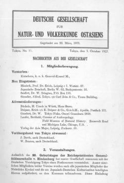 NOAG No. 11 (5. Oktober 1927)